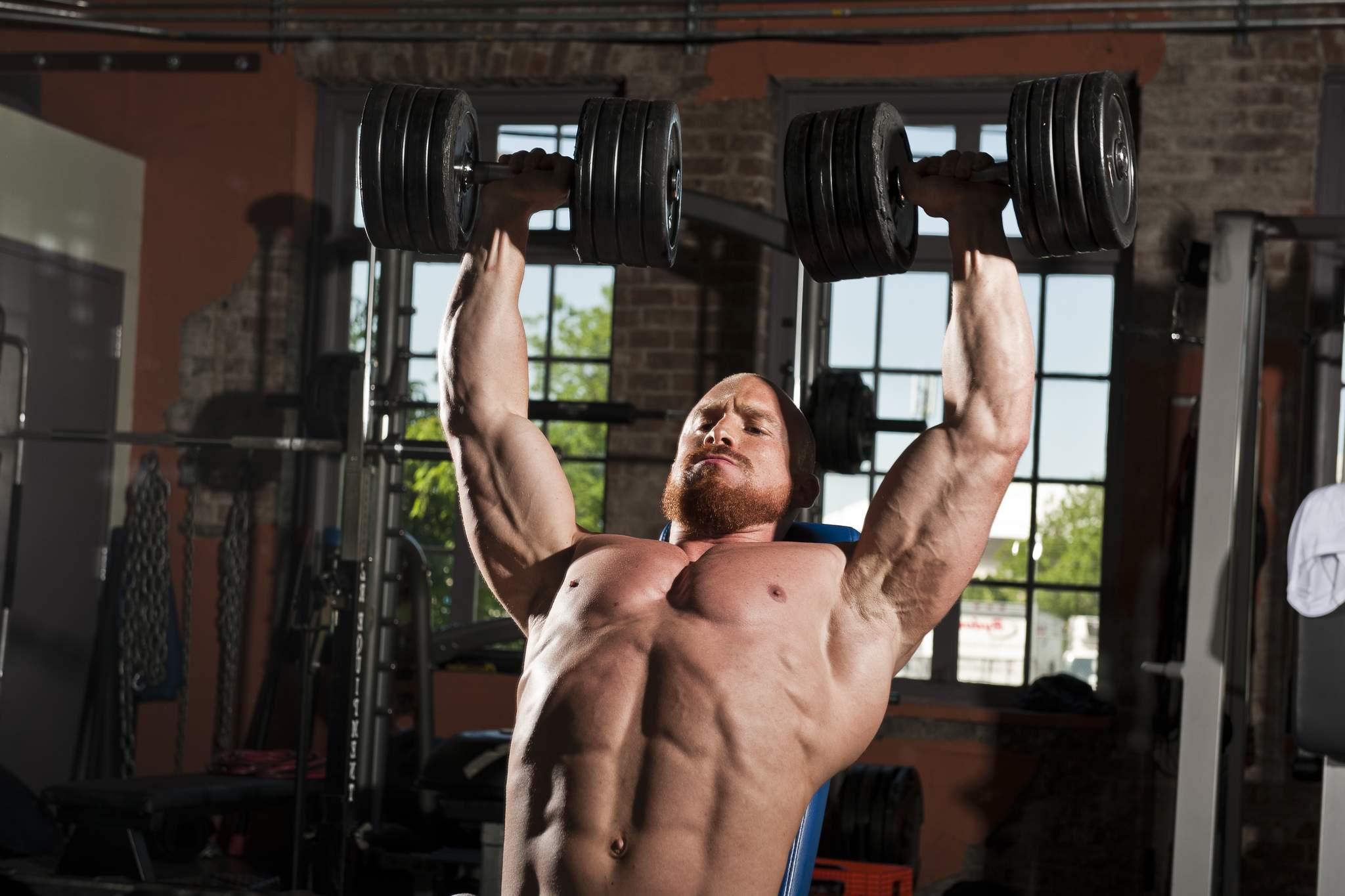Bodybuilder Shoulder Exercise